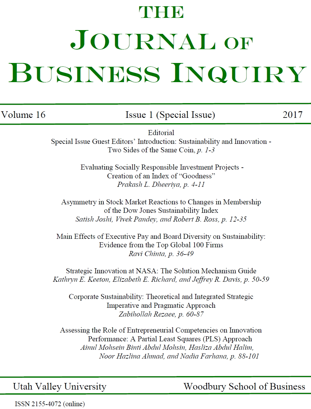 asymmetry in stock market reactions to changes in membership of the dow jones sustainability index the journal of business inquiry